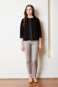 felted wool cropped jkt