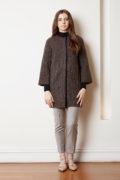 felted mohair long jacket