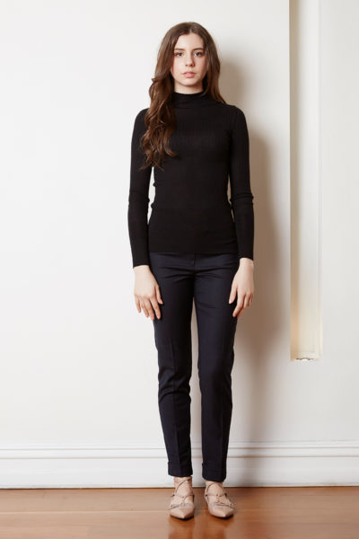 Cashmere silk Ribbed sweater