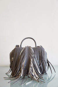 handbag with fringe detail