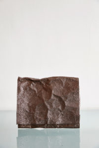 square leather clutch