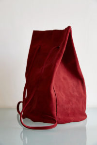 suede sailing backpack